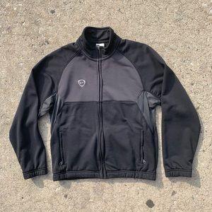 Vintage Nike Black/Grey Zip-Up Performance Sweater